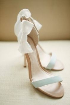 Pretty Heels with Bows | Grayed Jade Wedding Inspiration