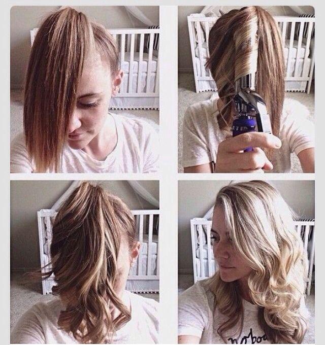накрутить волосы в хвосте - Поиск в Google