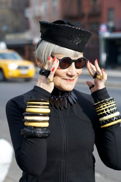 Style has no end! Check out this article about a photographer who takes photos of fashionable older adults *much like The Sartorialist*