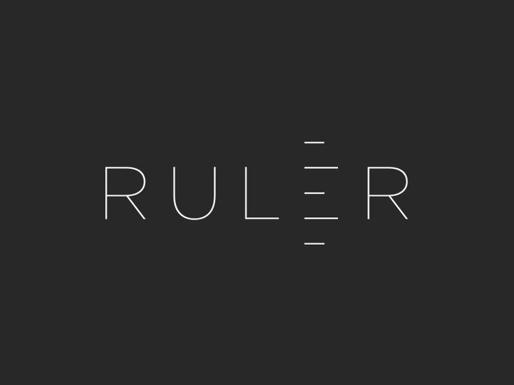 ruler ver2 logo desingtypography designdesign - Graphic Design Logo Ideas