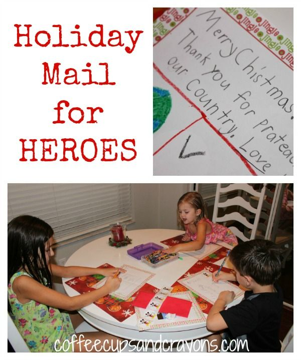 They collect card between October and early December! Holiday Mail for Heroes: Send a Card to a Service Member