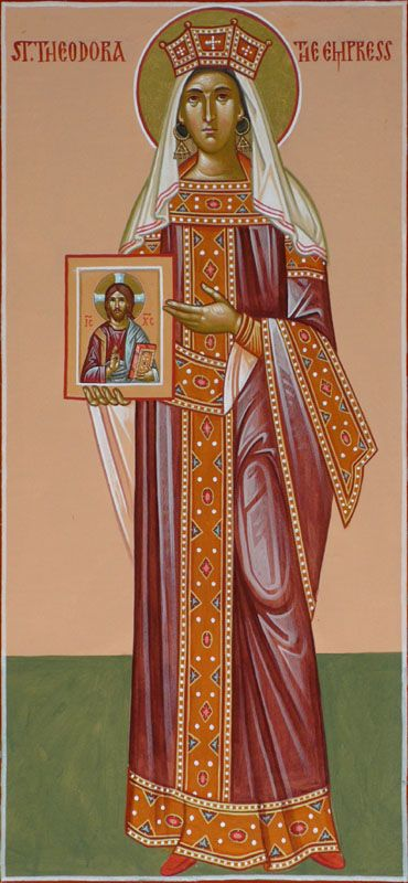 St Theodora the Empress.  Also fact: In 1460, the Turks gave her relics to the people of Kephalonia, Greece.