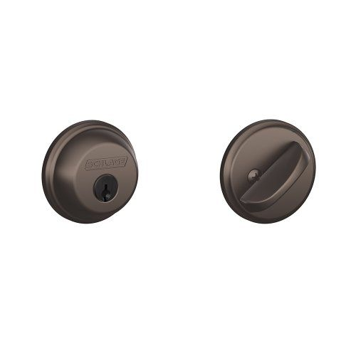 Schlage B60N613 Deadbolt, Keyed 1 Side, Oil Rubbed Bronze