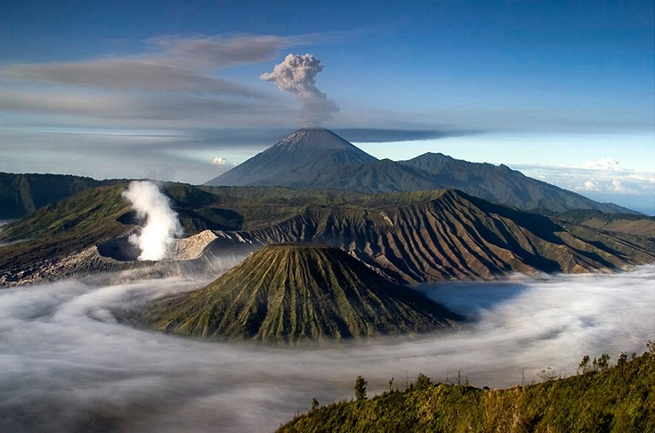 Mount Bromo, East Java    Mount Bromo, East Java    Mount Bromo is a volcano that is still active and most famous as a tourist attraction in East Java. As a tourist attraction, Mount Bromo become attractive because of its status as volcano is still active.