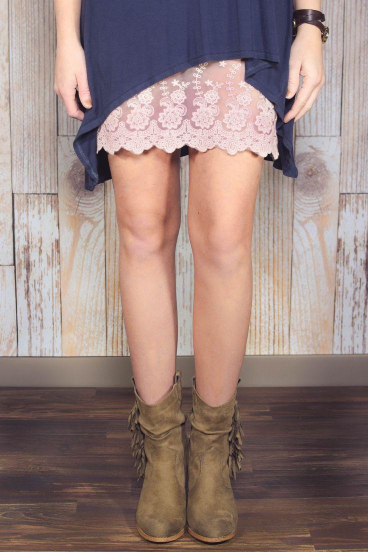 Blush Lace Dress Extender
