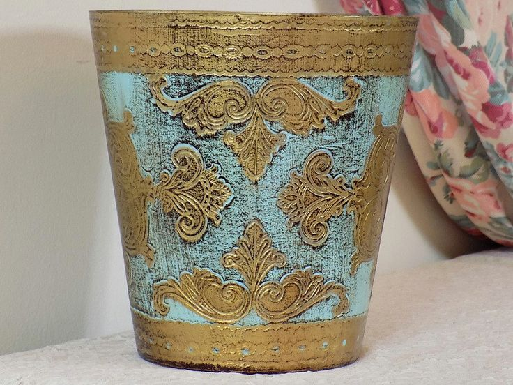 Vintage FLORENTINE Waste Basket Antique Shabby от VintagetownUSA