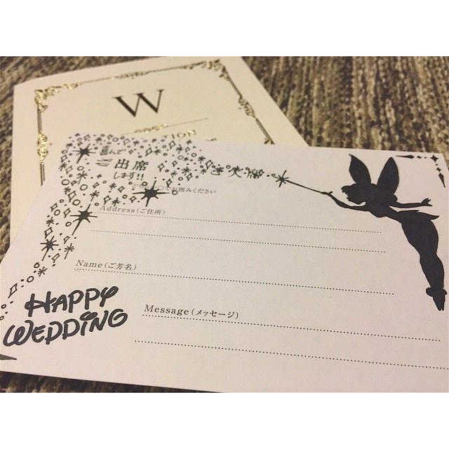 貰ってうれしい!可愛すぎるディズニーデザインの招待状返信アートにびっくり♡   marry[マリー]