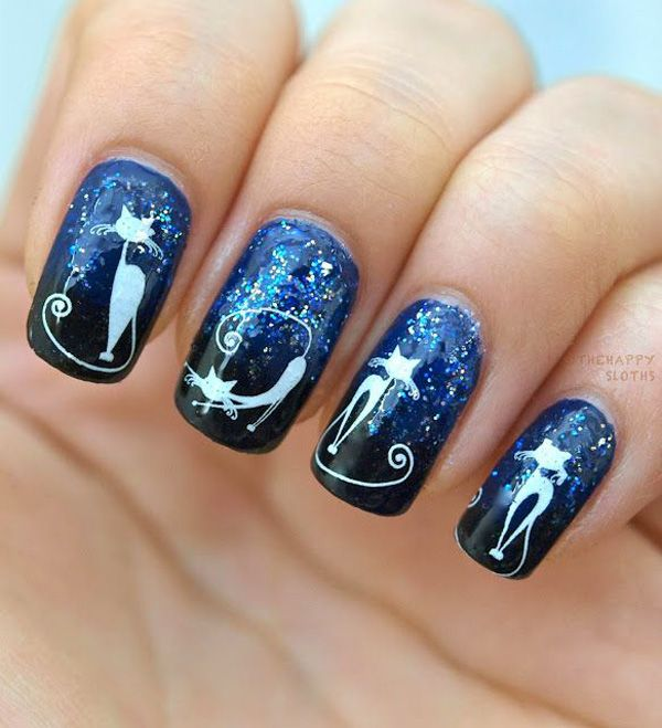 Halloween nail art - 45 Cool Halloween Nail Art Ideas | Art and Design