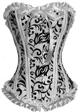 Black White Burlesque Corset