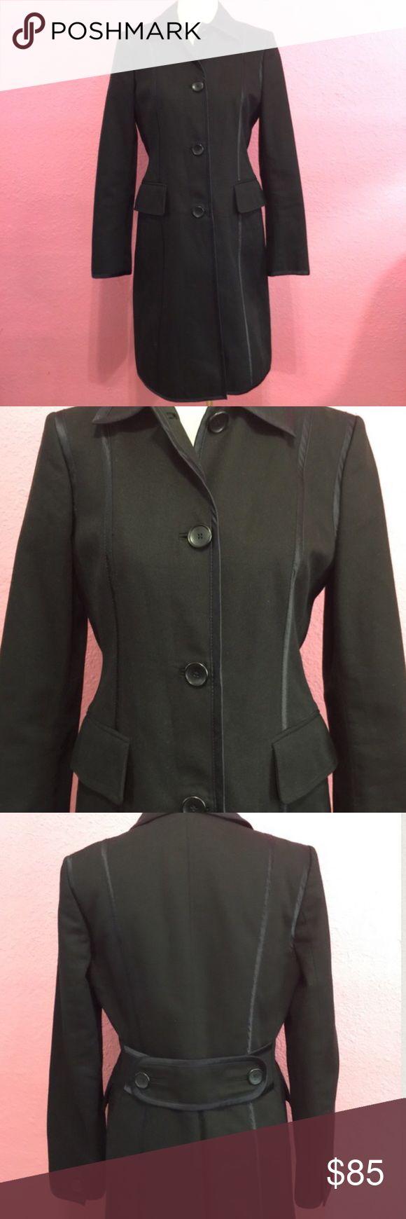 Banana Republic black trench coat Banana Republic black trench coat   Heavy cotton/ canvas material Banana Republic Jackets & Coats Trench Coats