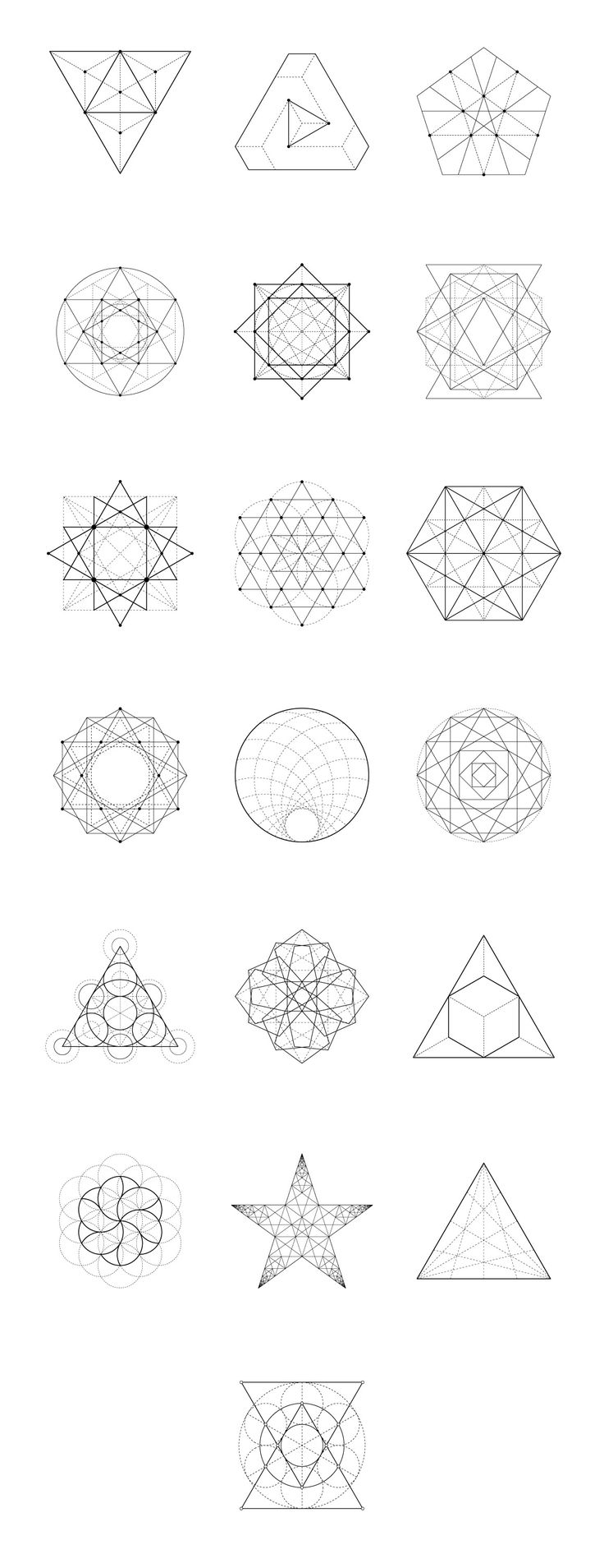 Sacred Geometry: 60 Items by kloroform on Creative Market