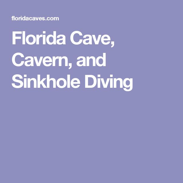Florida Cave, Cavern, and Sinkhole Diving