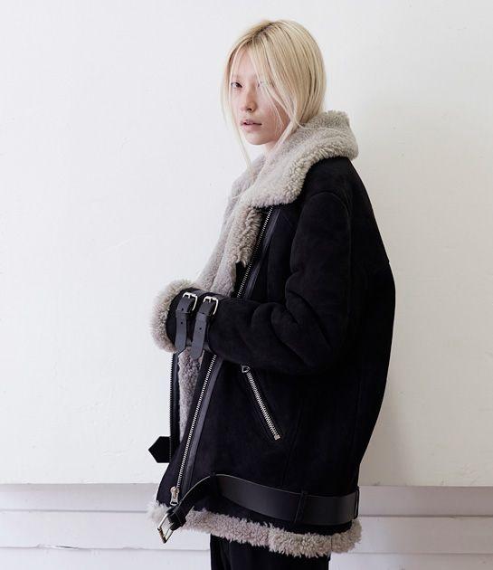 Avant Noir/ Acne Studios Velocite Oversized Shearling Jacket