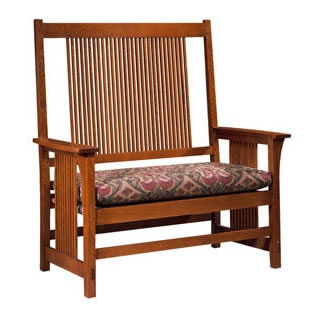 I could design a room/house around a few pieces of good, original Stickley furniture.  Pictured-Stickley Spindle Settee