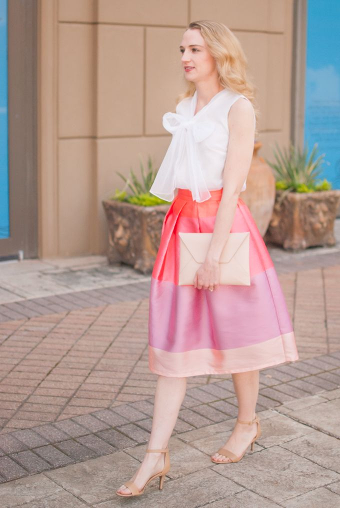 A midi skirt is a great alternative to the traditional Easter dress.