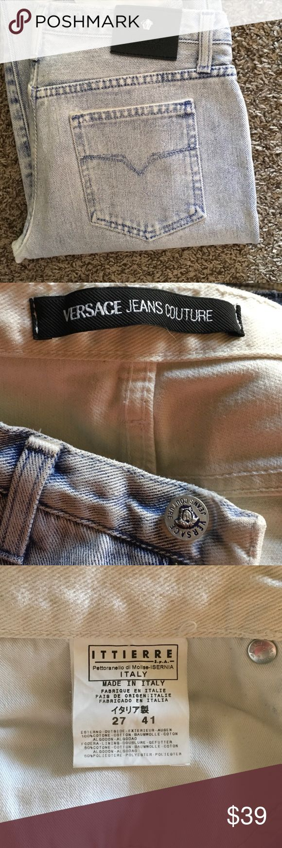 "VERSACE JEAN S COUTURE  NWOT Authentic, Stone wash jeans by Versace . Made in Italy . Boot cut style . Size 27. Inseam 33"" Versace Jeans Boot Cut"