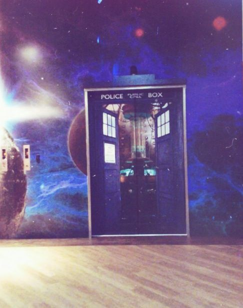 James Smith Building Wellington New Zealand Dr. Who Elevator Art! Love going to work everyday :)