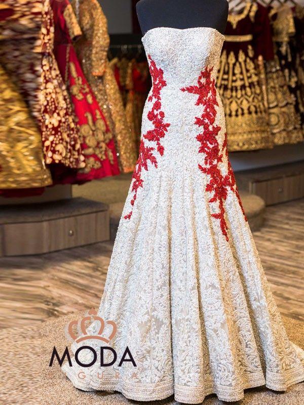 Srilankan wedding heavy gown.