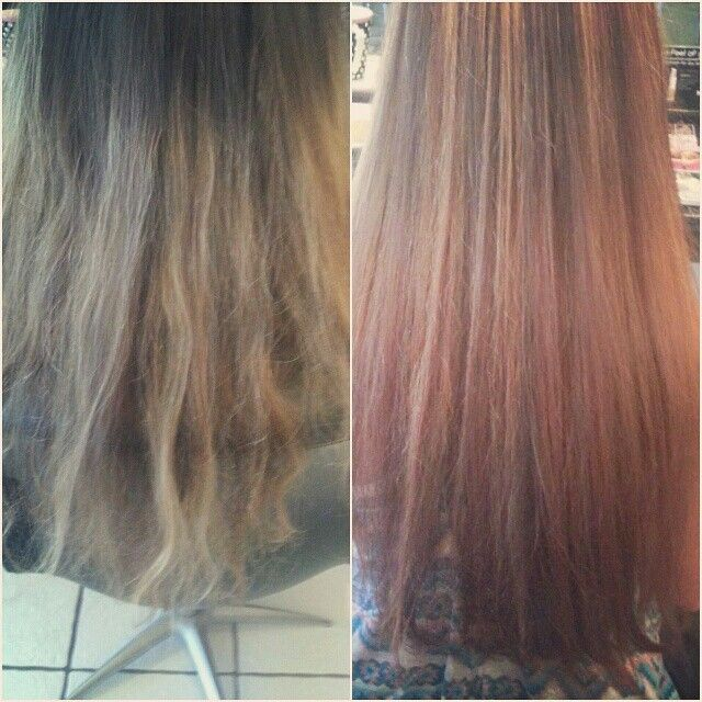 Months worth of regrowth to Fresh warm scattered Highlights & Red toned base #goldwellaus
