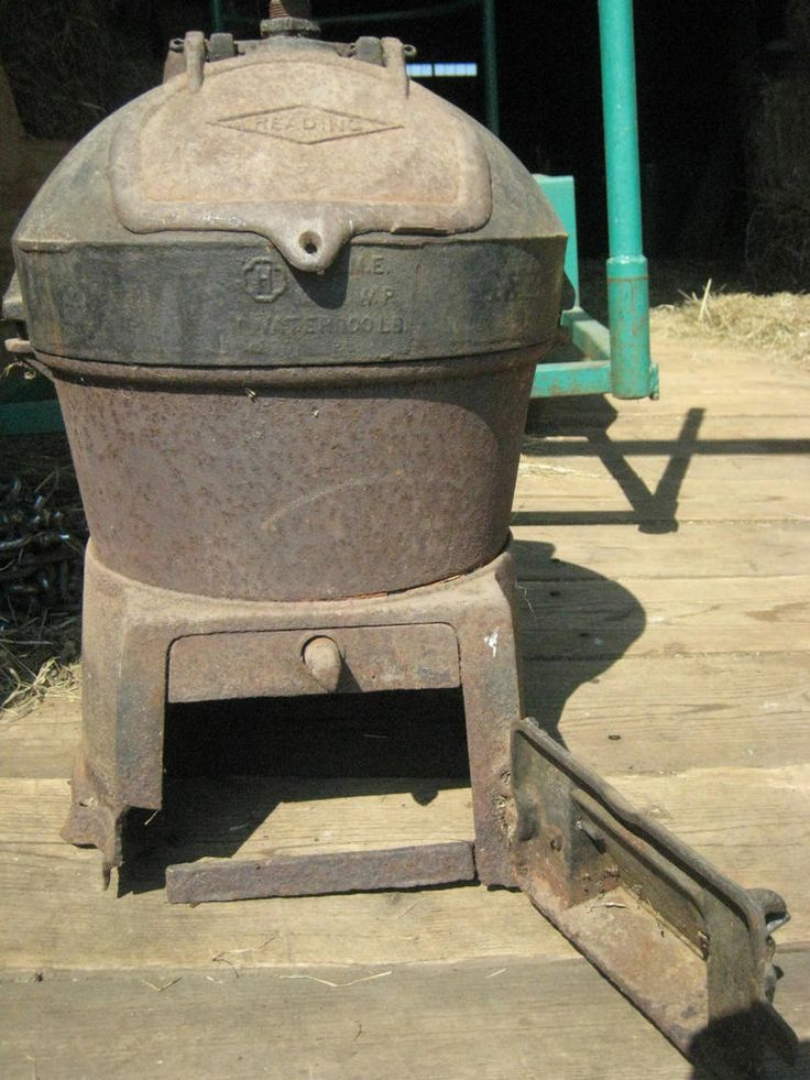 Antique Rf S Company Coal Boiler Wood Stove Water Heater