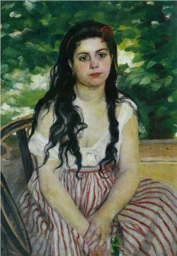 Pierre-Auguste Renoir, In estate (1865), si trova alla Nationalgalerie di #Berlino. La nostra descrizione: http://www.finestresullarte.info/operadelgiorno/2013/163-pierre-auguste-renoir-in-estate.php