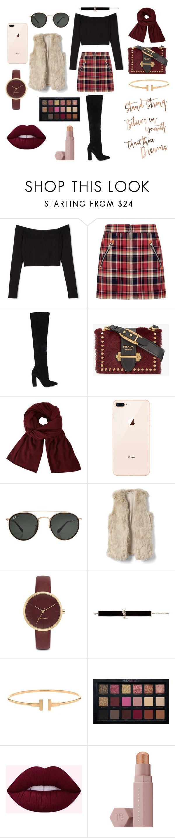 """GIRL BOSS"" by queenpaola on Polyvore featuring moda, rag & bone, ALDO, Prada, John Lewis, Ray-Ban, Nine West, Yves Saint Laurent, Huda Beauty e Puma"