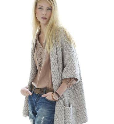 Modèle veste en point de blé - Modèles tricot femme - Phildar