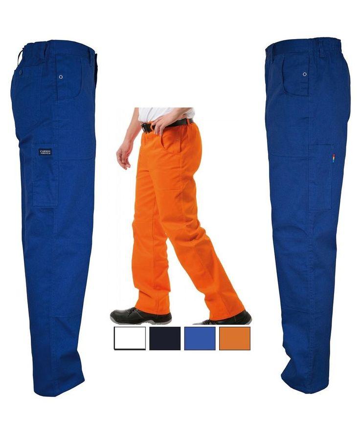 CARSON Pantaloni da lavoro Multitasche fino taglia 60 XX 62 3XL Elastico in vita