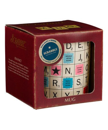 Look what I found on #zulily! Scrabble Alphabet Mug by Scrabble USA #zulilyfinds