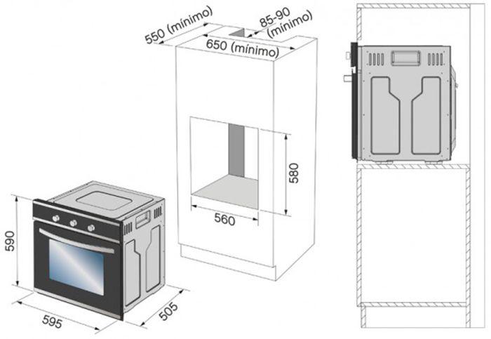 Resultado de imagem para orientações instalação forno eletrico brastemp