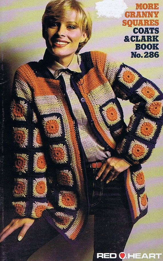 Granny squares jacket, vintage pattern from the 70s (doing research for next project)