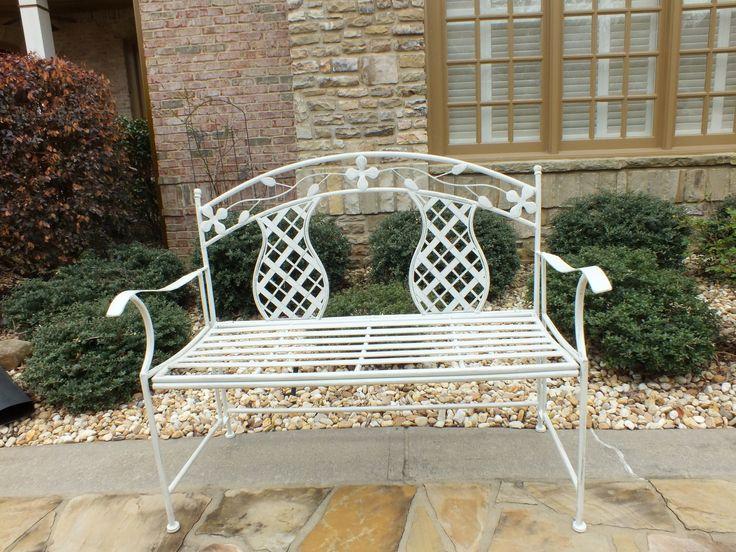Rosa Series Metal Garden Bench