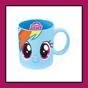 My Little Pony Rainbow Dash I think My Little Pony is here to stay. My children grew up with My Little Pony, and children still enjoy it today. It is both microwave and dishwasher safe. It comes in a beautiful matching gift box. http://theceramicchefknives.com/ceramic-mugs-variety/