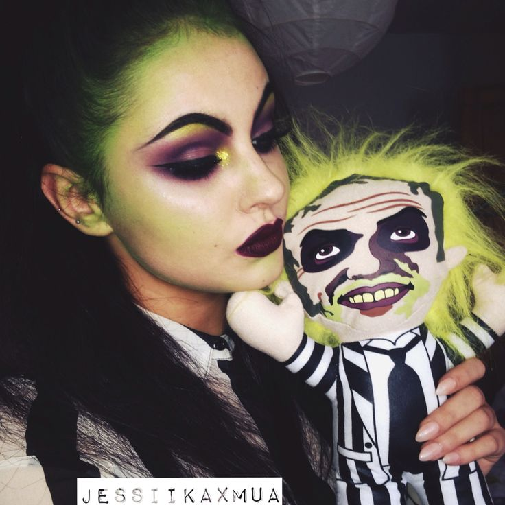 Tim burton makeup inspired by Beetlejuice                                                                                                                                                                                 Plus
