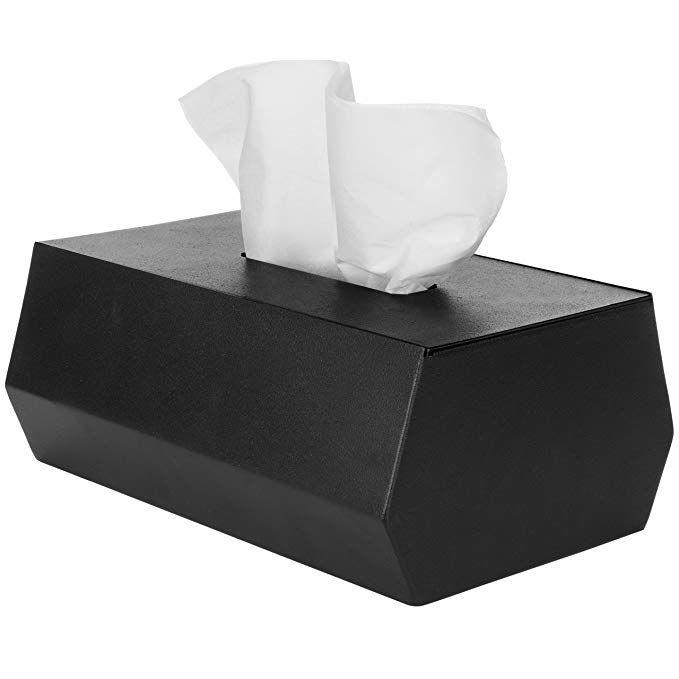 Mygift Modern Black Metal Rectangular Tissue Box Cover Covered Boxes Tissue Box Covers Tissue Boxes