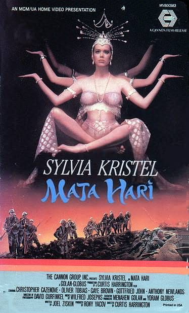 Mata Hari film starring Sylvia Kristel (1985). Directed by Curtis Harrington produced by Golan-Globus