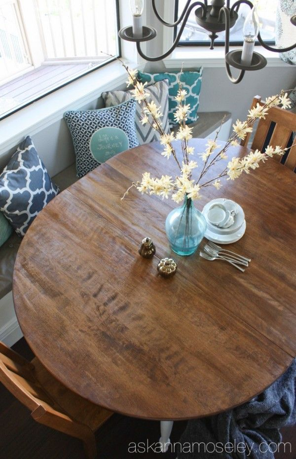Breakfast Nook Table Makeover and a BIG Giveaway!!!