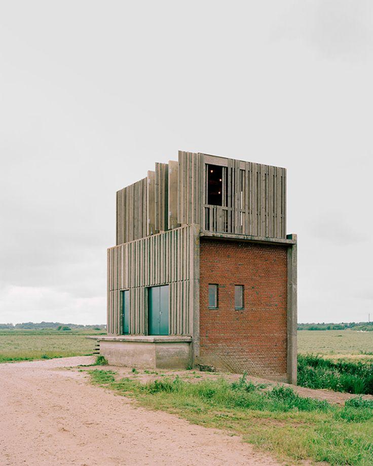 Johansen Skovsted Arkitekter, Arkitekturfotograf Rasmus Norlander · Conversion of Three Pumpstations Along the Skjern River. Jutland, Denmark · Divisare