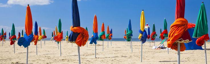 Het strand van Deauville.