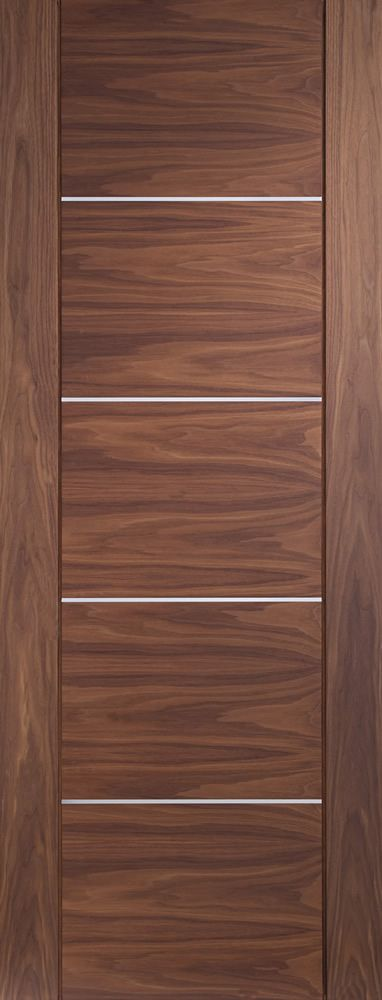 Portici Pre-Finished Internal Walnut Door  Flat Image