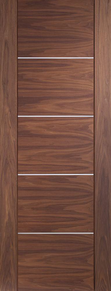 Portici Pre Finished Internal Walnut Door Flat Image