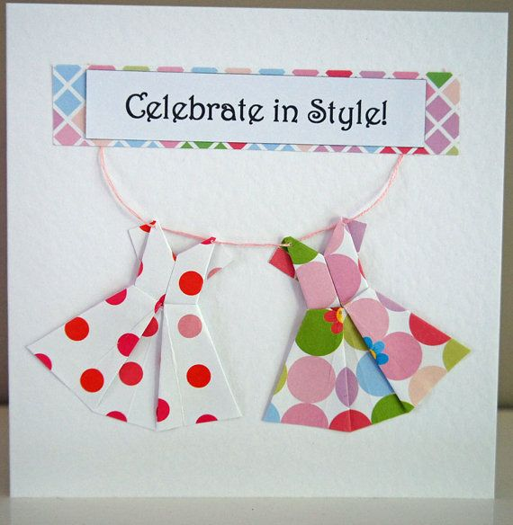 Celebrate in Style Origami Birthday Card