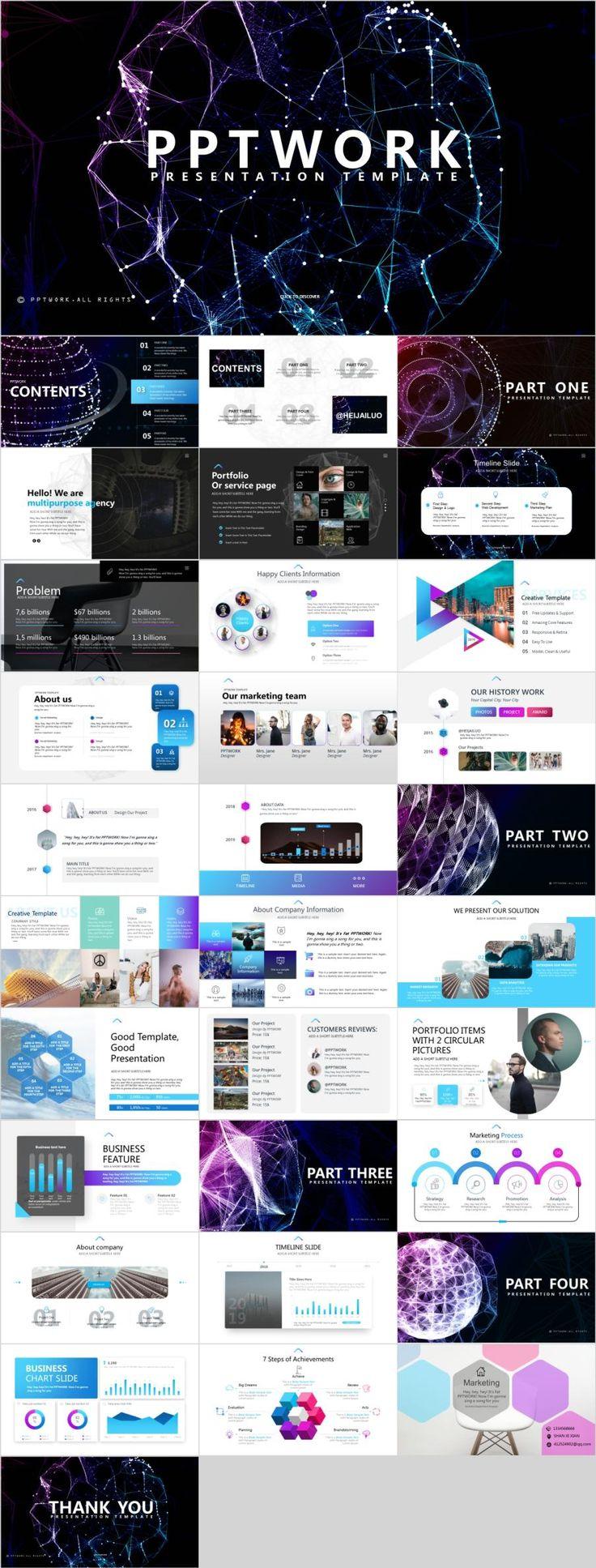 32+ creative technology PowerPoint template
