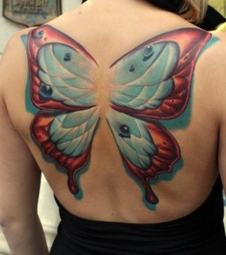 Tattoos By Eagershears On Pinterest: Tatuaże Motyle #butterflytattoo #tattoo