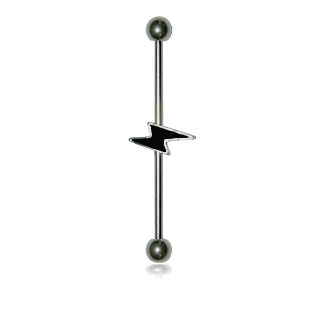 Supreme Jewelry Surgical Lightning Bolt Industrial Barbell Earring