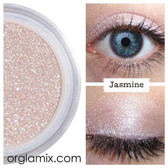 Lavendel Shadow, licht paarse oogschaduw, minerale cosmetica, natuurlijke make-up, Shimmer voor ogen, Vegan oogschaduw, hele dag dragen, afwerking, jasmijn
