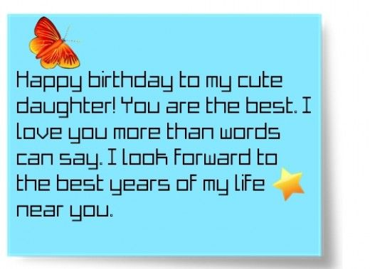 Birthday Wishes Texts And Quotes For A Daughter From Mom Em