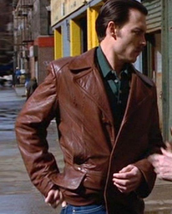 386a1d628da Donnie Leather Coat Donnie Brasco