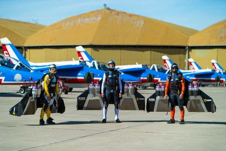 Jetmen in Formation with French Air Force Aerobatic team (1)