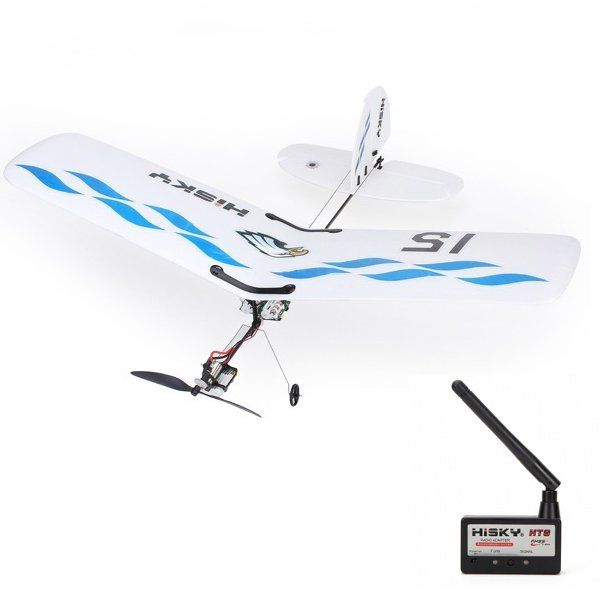 Hisky Buzz HFW400 2.4G 3CH Micro RC Parkflyers BNF With HT8 Radio Adapter